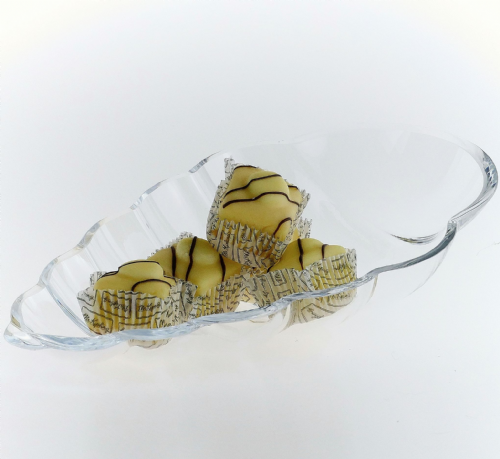 Glass Snack&Dip Bowl Shell